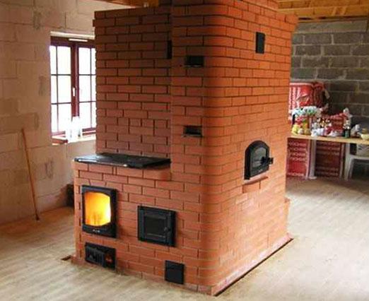 Отопительная печь в доме своими руками