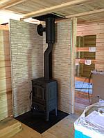 Установка печи -камина в деревянном доме (34 фото как установить камин) 78