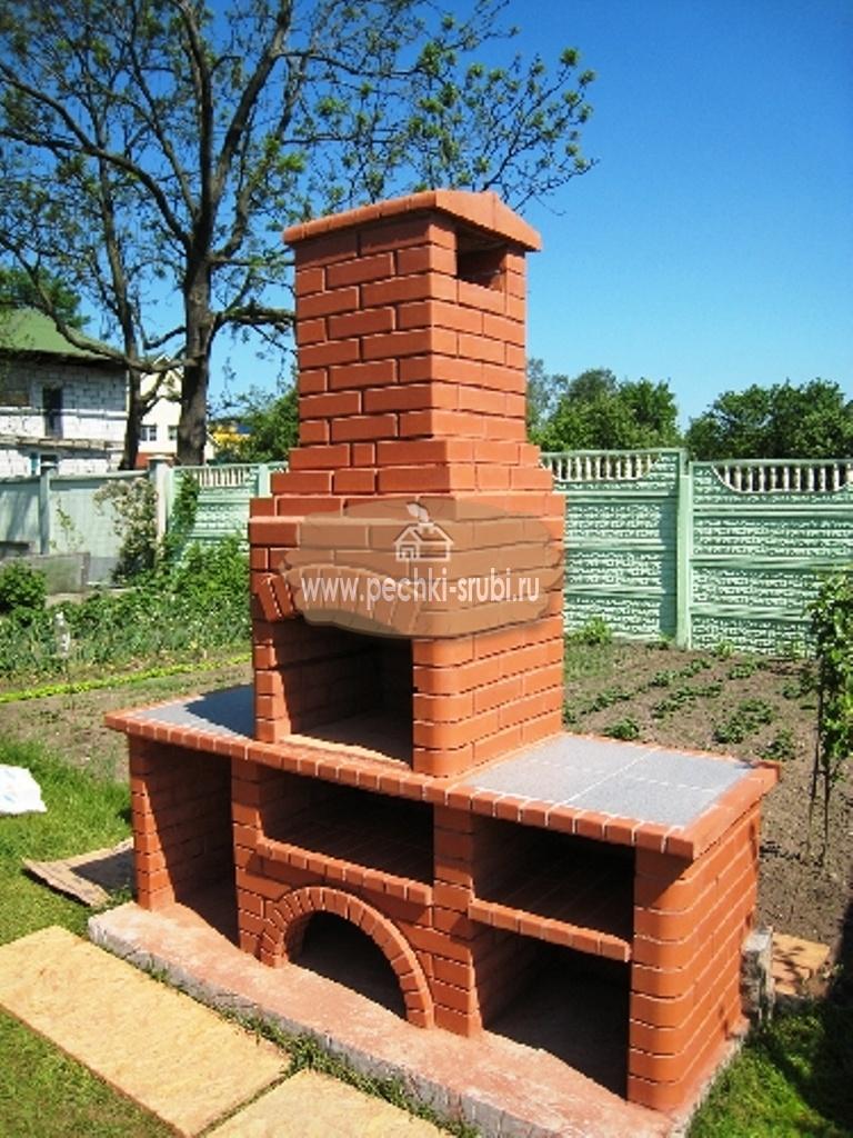 Печь для садового домика из кирпича своими руками